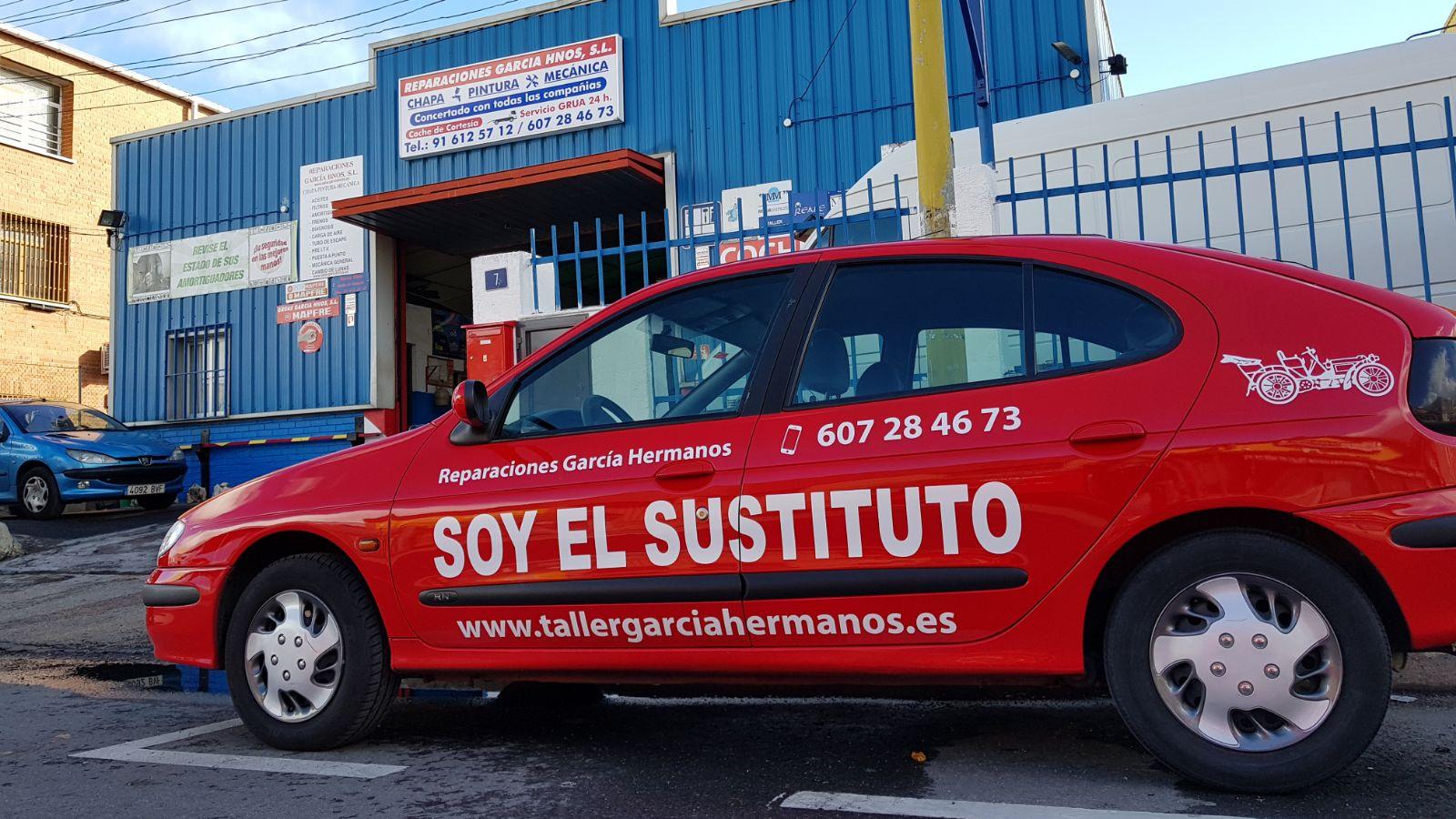 Vehiculo sustitución taller Alcorcón